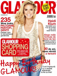 Glamour Noiembrie 2011 shopping card cadou