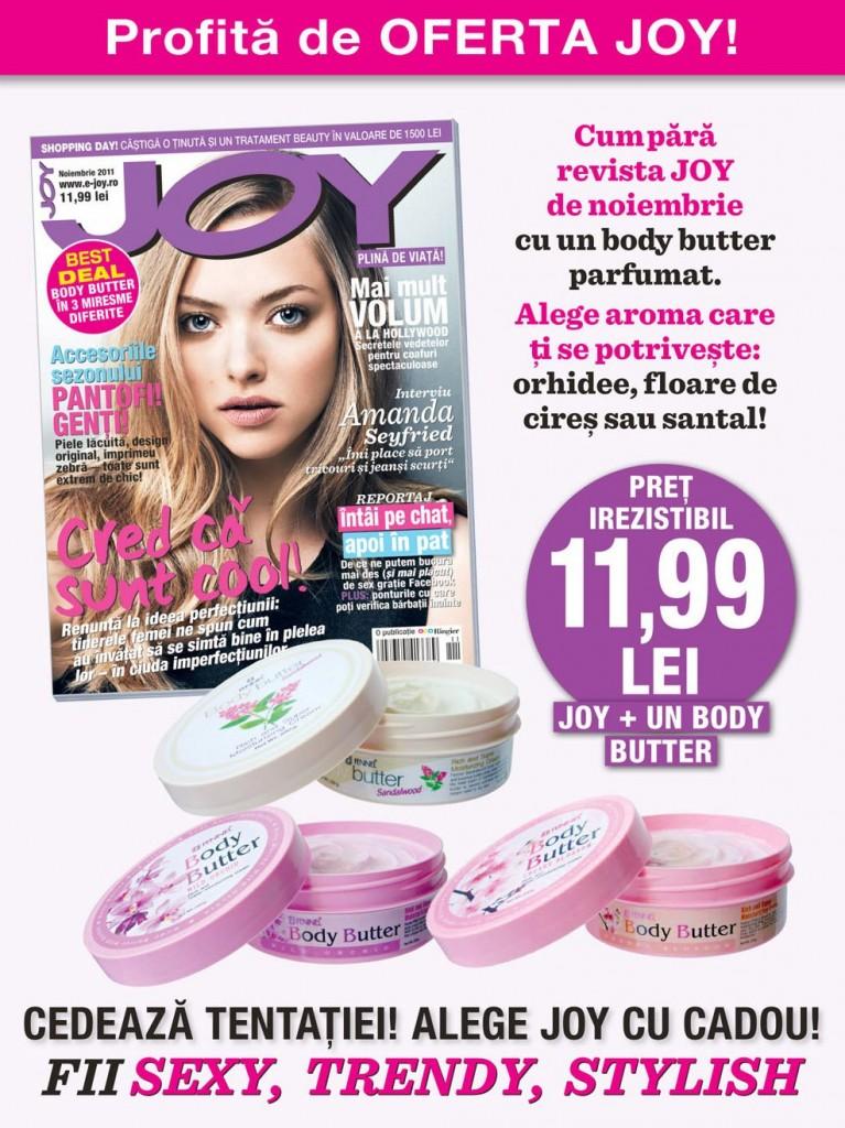 Revista Joy Noiembrie 2011 cadou unt de corp Fennel