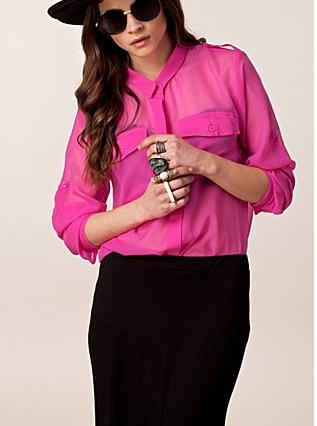 camasa roz transparenta
