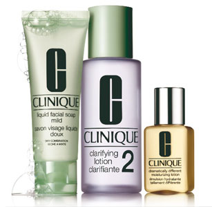 clinique 3 step set