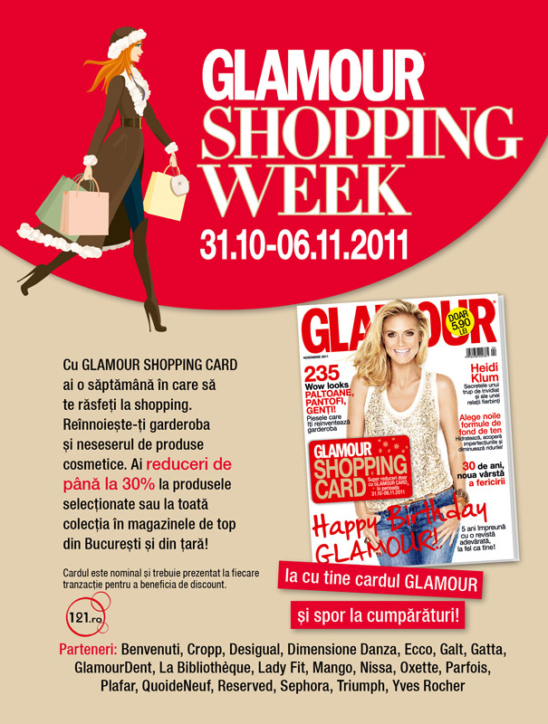 revista glamour shopping card discount