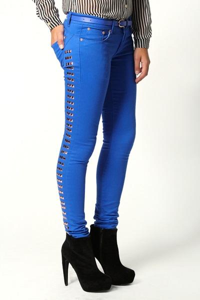 jeans cu tinte