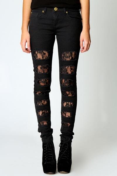 jeans dantela