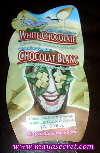 masca de curatare ciocolata alba