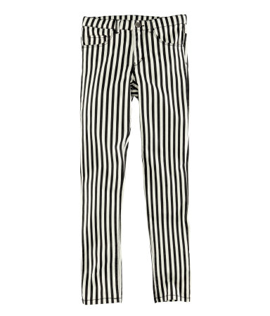 pantaloni dungi alb negru