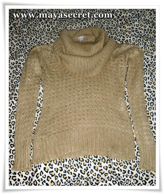 pulover auriu h&m