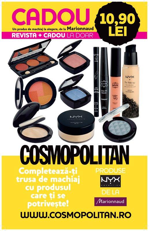 revista cosmopolitan cadou martie produse nyx