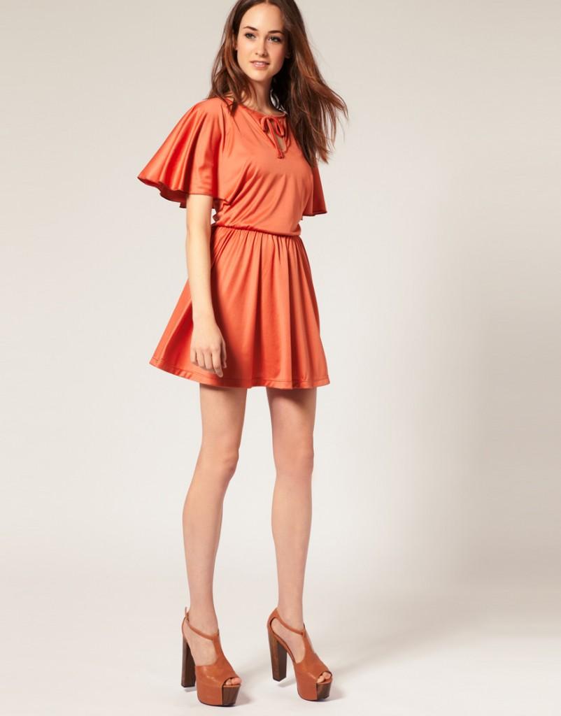 Vero Moda rochie caramizie asos
