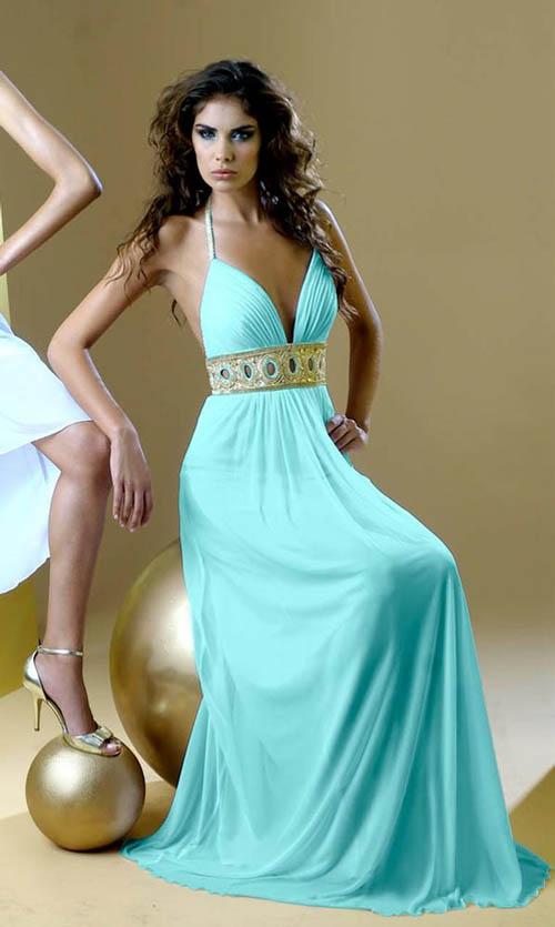 rochie in stil roman bleu