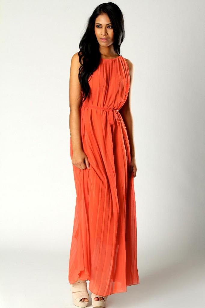rochie lunga tangerine