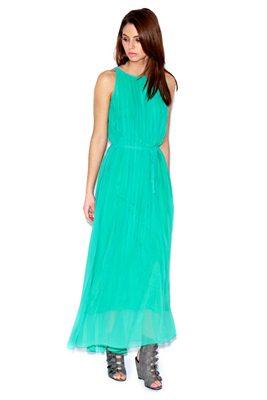 rochie lunga turcoaz